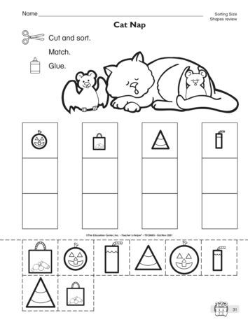 Kindergarten Math sorting Worksheets This Math Worksheet Has Students sorting Shapes Of Different