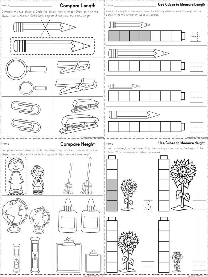 Kindergarten Measurement Worksheets 10 Length Worksheet Kindergarten Kindergarten with