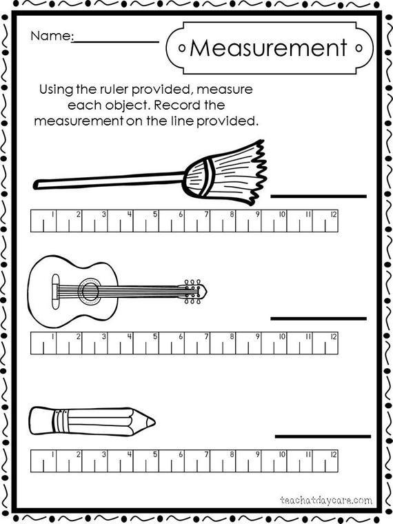 Kindergarten Measurement Worksheets 10 Printable Measuring with A Ruler Worksheets Preschool 1st Grade Math