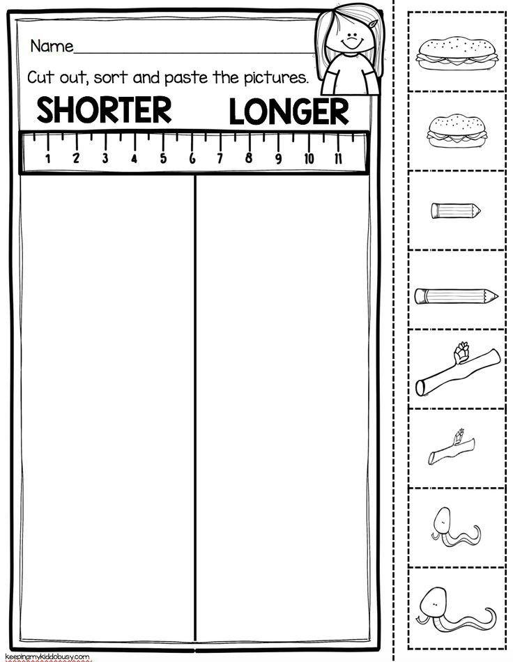 Kindergarten Measurement Worksheets Measurement and Data Kindergarten Math Unit Freebies