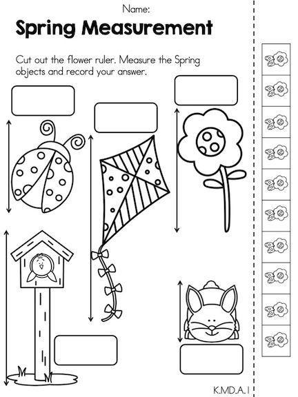 Kindergarten Measurement Worksheets Spring Math Activities Kindergarten Distance Learning