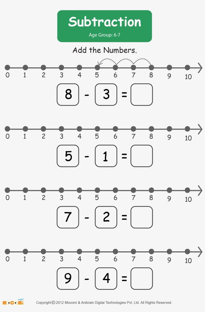 Kindergarten Number Line Worksheet Subtraction Worksheet for Kids Worksheets Learn More