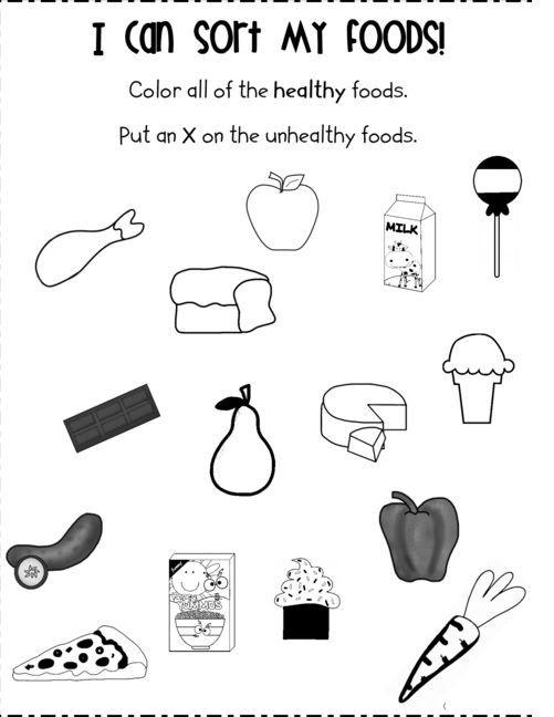 Kindergarten Nutrition Worksheets Food Worksheet for Kids
