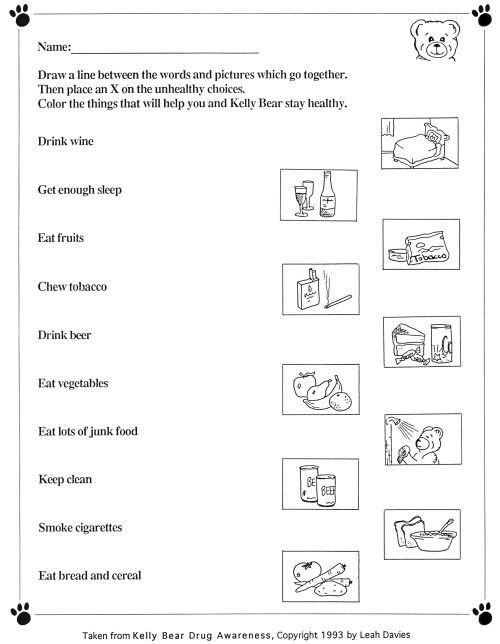 Kindergarten Nutrition Worksheets Healthy Food Worksheets for Kindergarten & Healthy Food