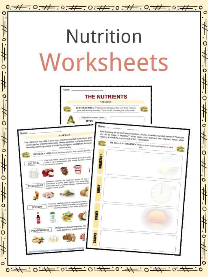 Kindergarten Nutrition Worksheets Nutrition Facts Worksheets & Key Information for Kids