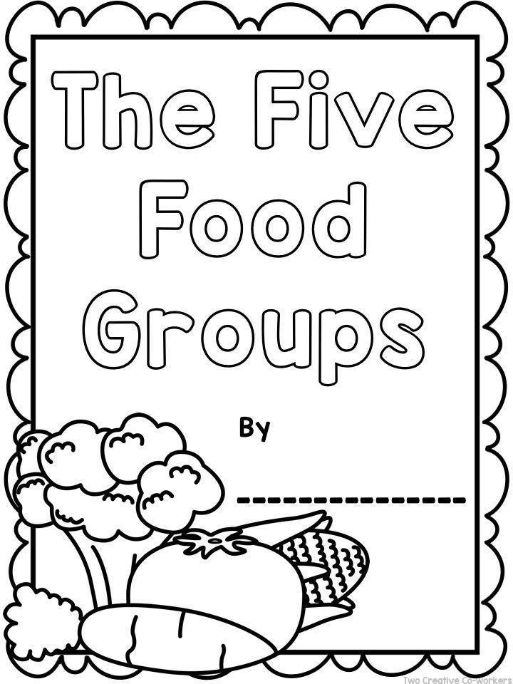 Kindergarten Nutrition Worksheets the Food Groups Printable Worksheets Mini Book & Posters