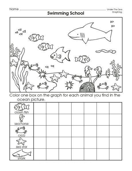 Kindergarten Ocean Worksheets Graph Worksheet for Kids