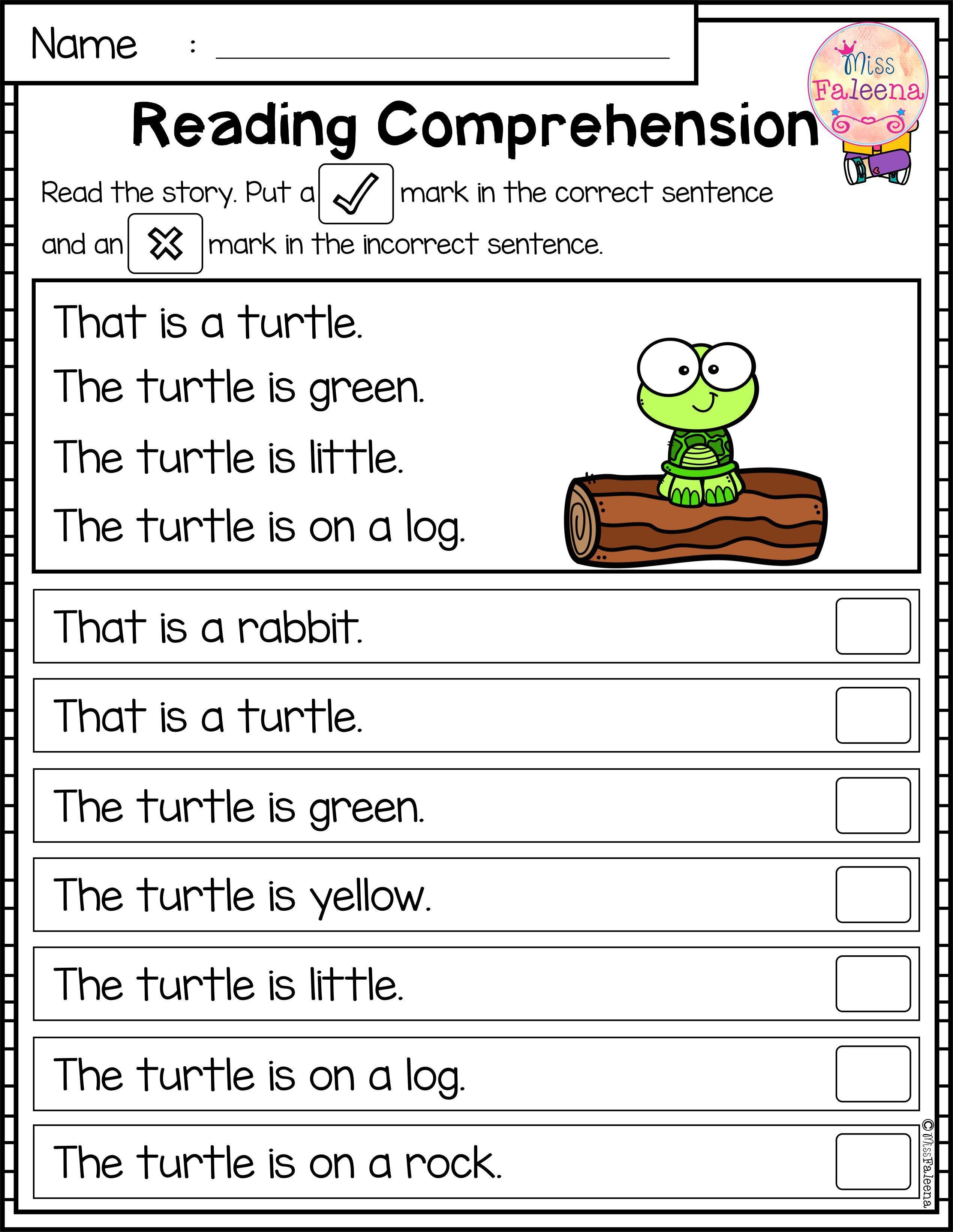 Kindergarten Reading Comprehension Worksheets August Reading Prehension Passages