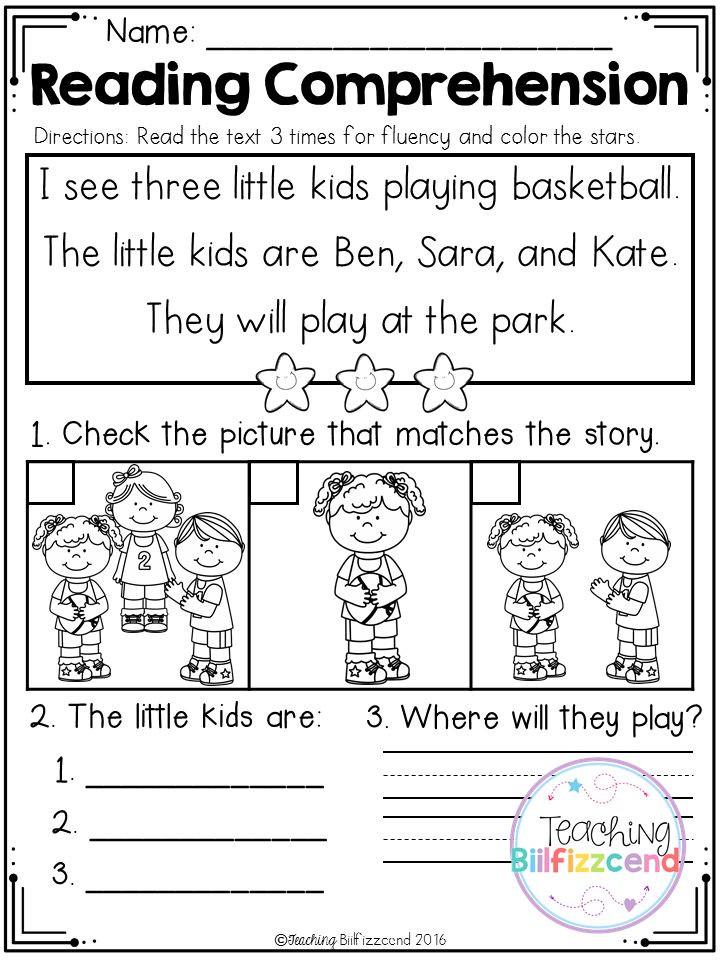Kindergarten Reading Comprehension Worksheets Free Kindergarten Reading Prehension Set 2 มีรูปภาพ