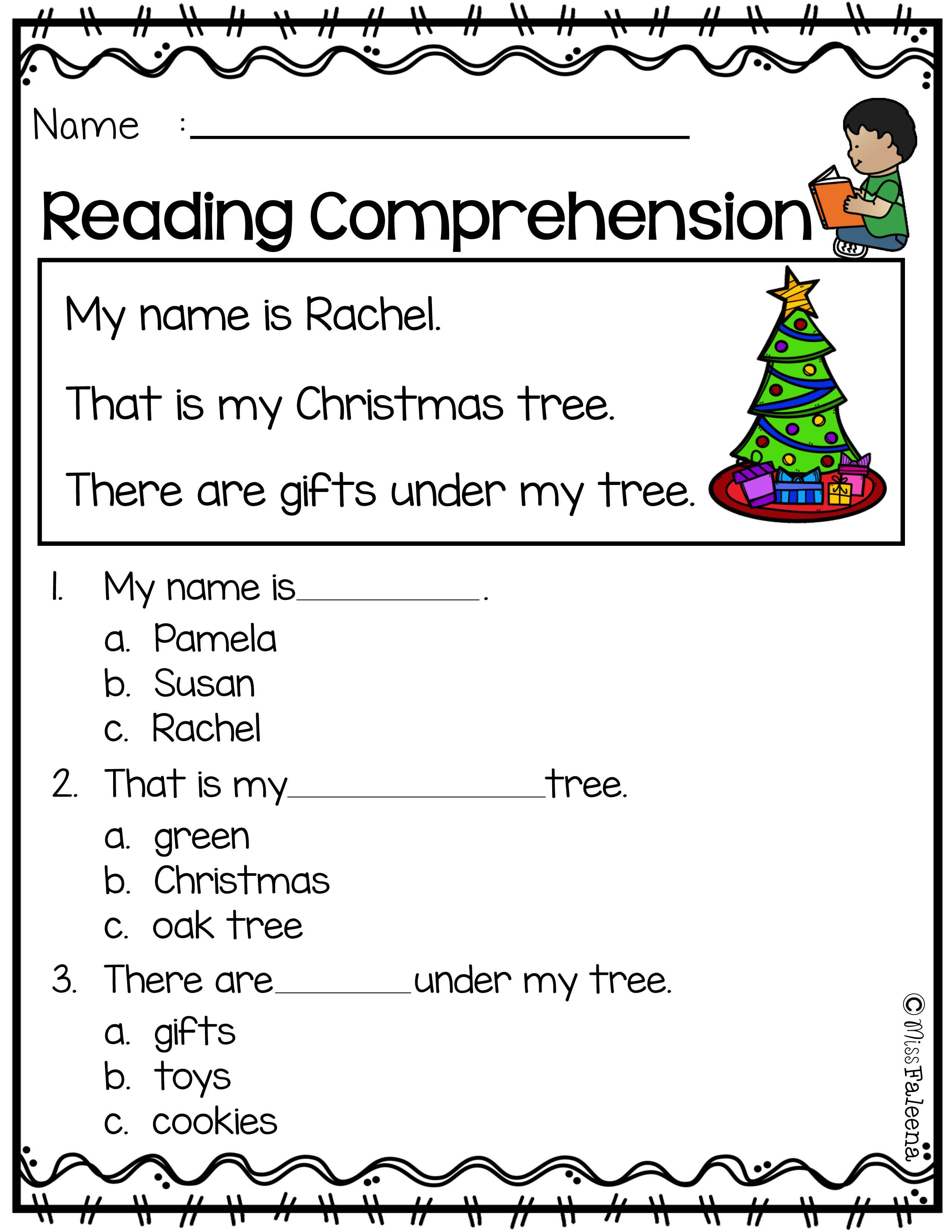 Kindergarten Reading Comprehension Worksheets Free Reading Prehension