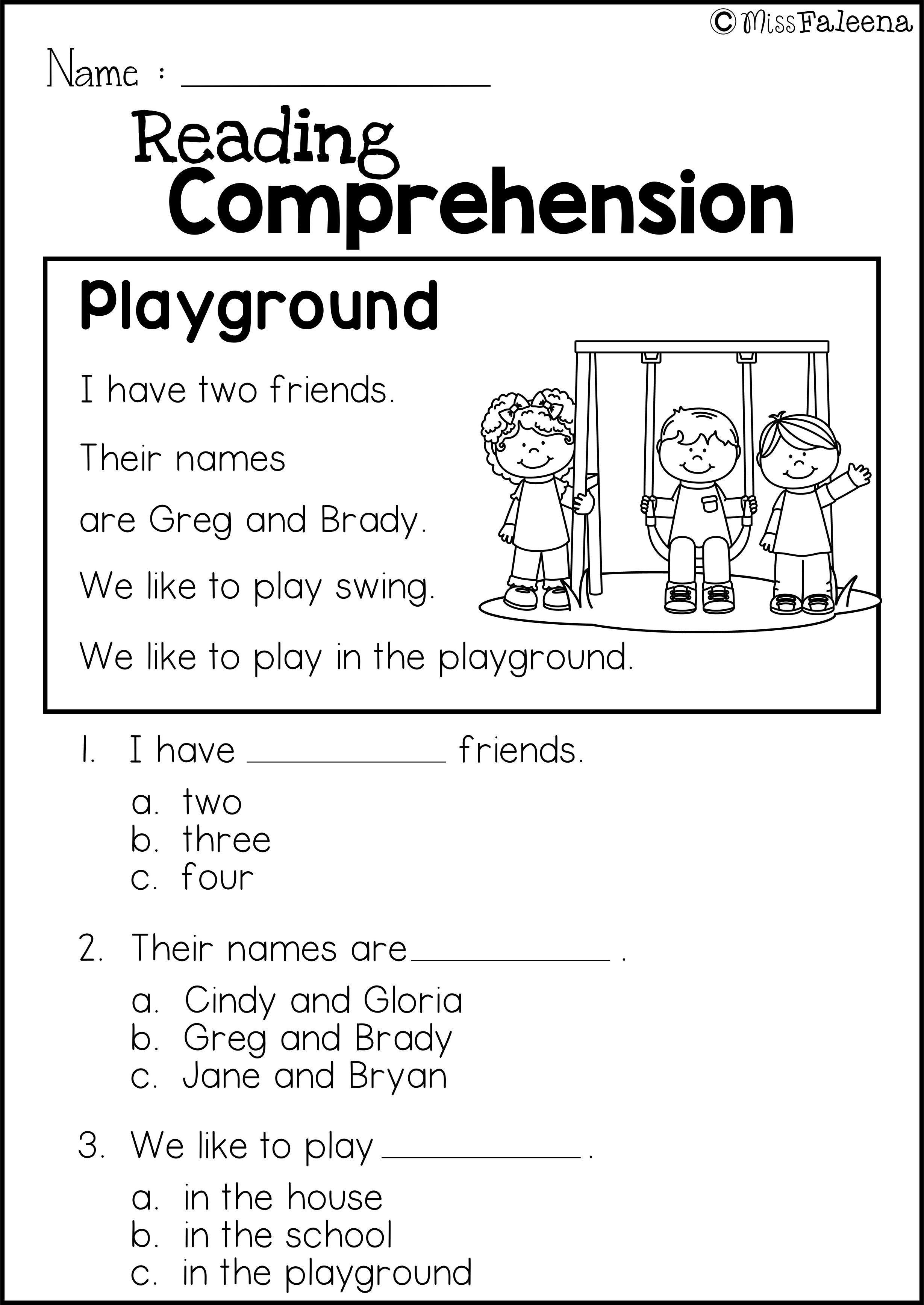 Kindergarten Reading Comprehension Worksheets Free Reading Prehension Practice