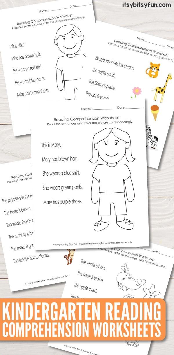 Kindergarten Reading prehension Worksheets