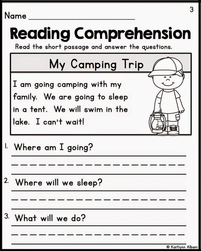 Kindergarten Reading Comprehension Worksheets Kindergarten Reading Prehension Worksheets Multiple