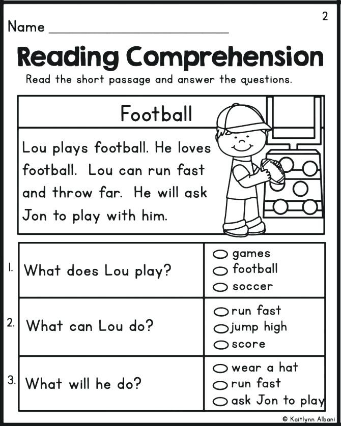 Kindergarten Reading Comprehension Worksheets Reading Prehension Kindergarten Worksheets Free Reading