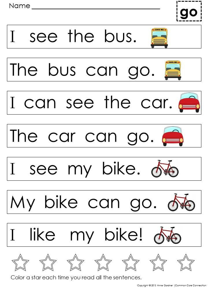 Kindergarten Reading Worksheets Sight Words Kindergarten Sight Word Sentences and Games for Guided