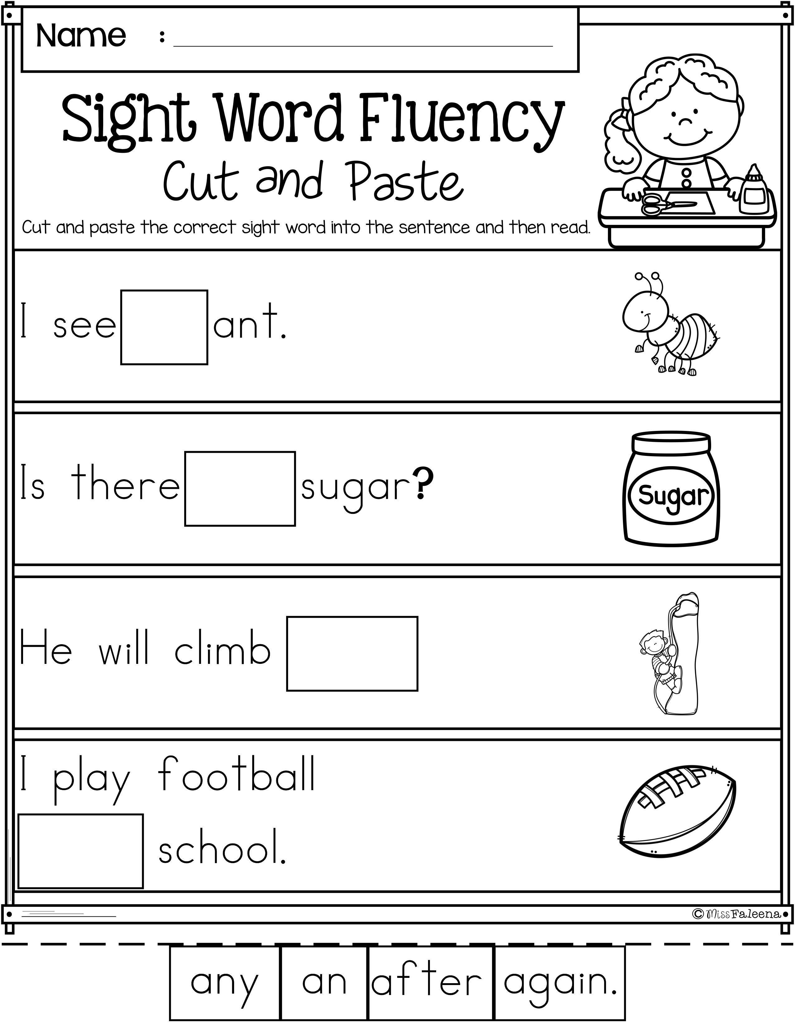 Kindergarten Reading Worksheets Sight Words Pin On Reading Worksheets