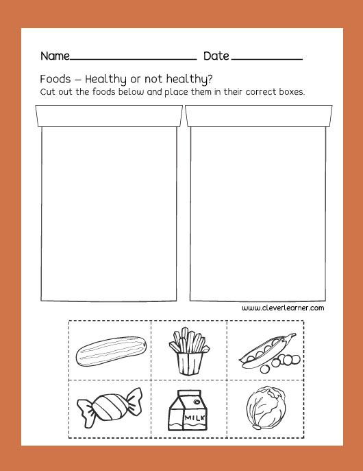 Kindergarten Science Worksheets Free Free Preschool Science Worksheets Healthy and Unhealthy