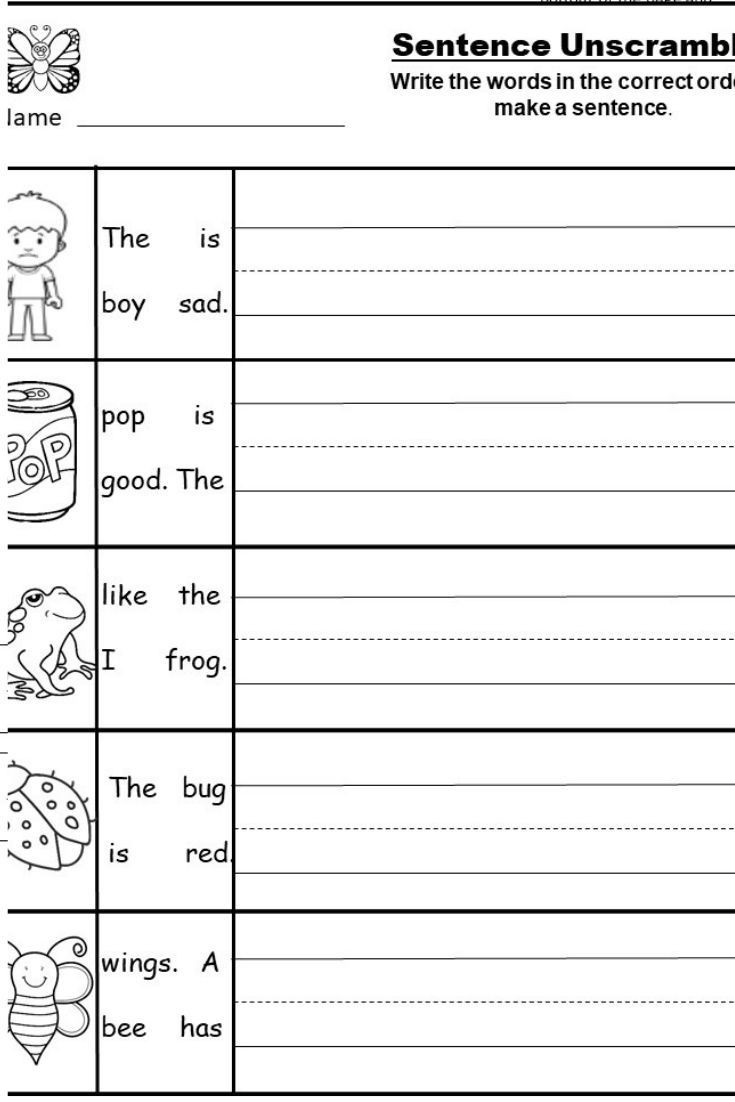Kindergarten Sentence Writing Practice Worksheets Free Kindergarten Writing Printable