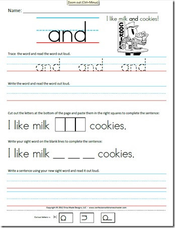 Kindergarten Sentence Writing Practice Worksheets Kindergarten Primer Sight Word Sentences Confessions Of