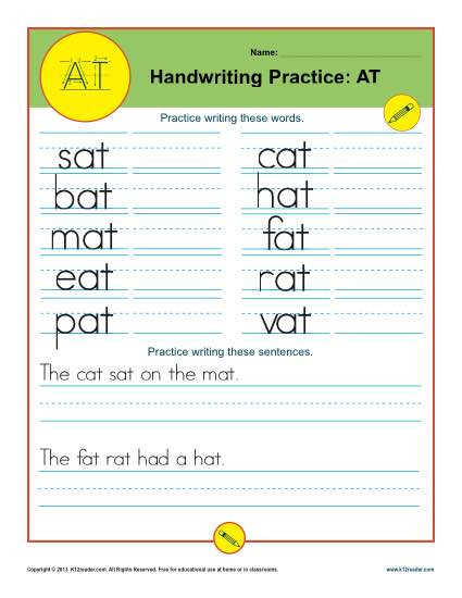 Kindergarten Sentence Writing Practice Worksheets Letters at