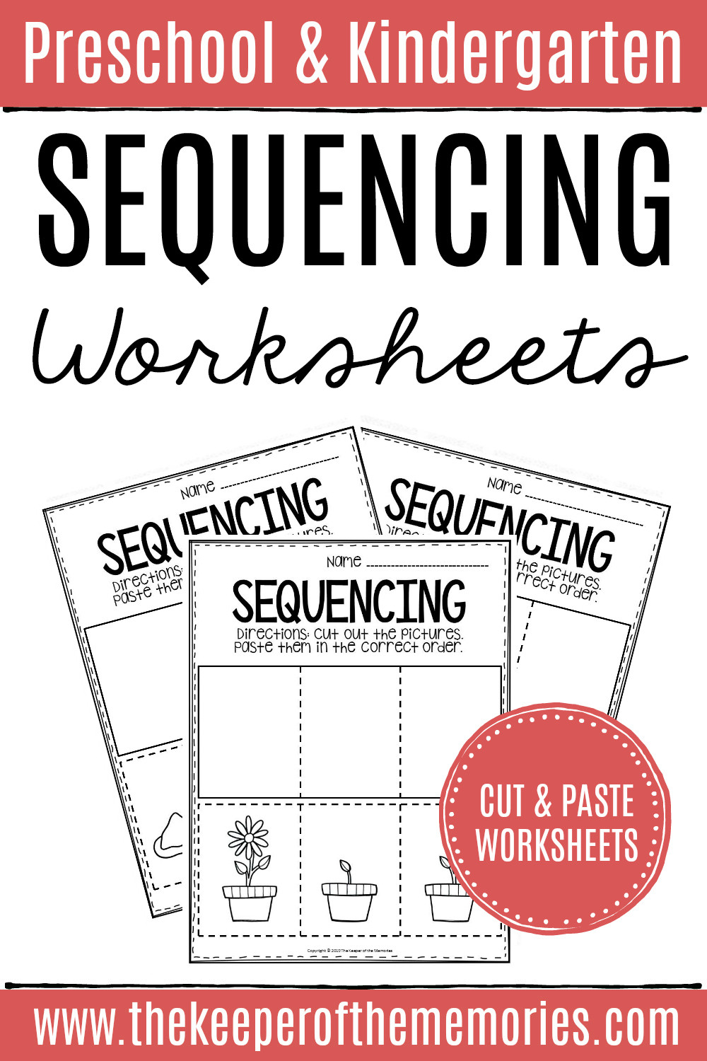 Kindergarten Sequence Worksheets 3 Step Sequencing Worksheets the Keeper Of the Memories