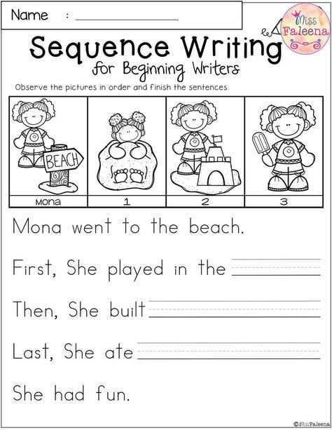 Kindergarten Sequence Worksheets Free Sequence Writing for Beginning Writers