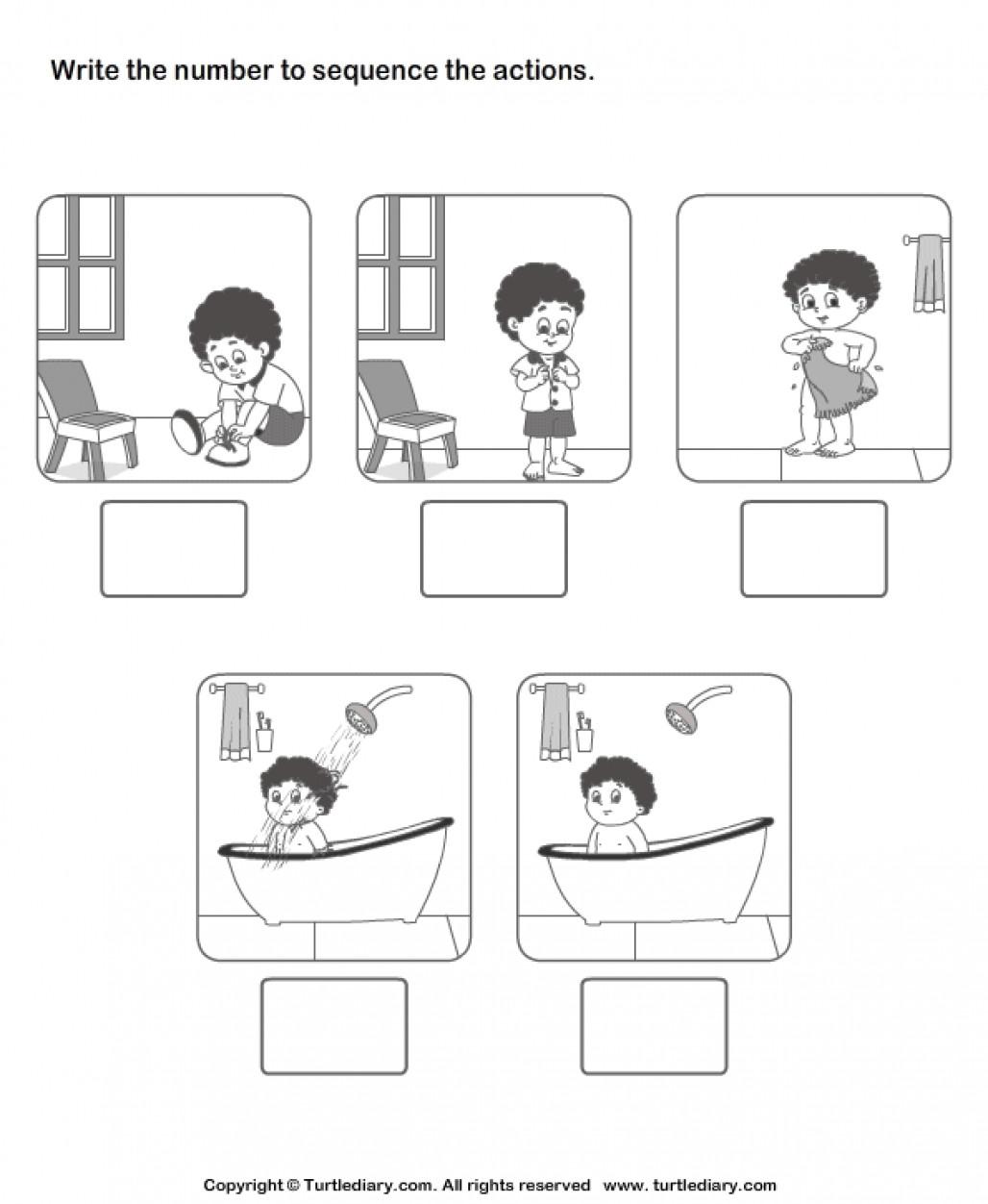 Kindergarten Sequence Worksheets New Sequencing events Worksheet
