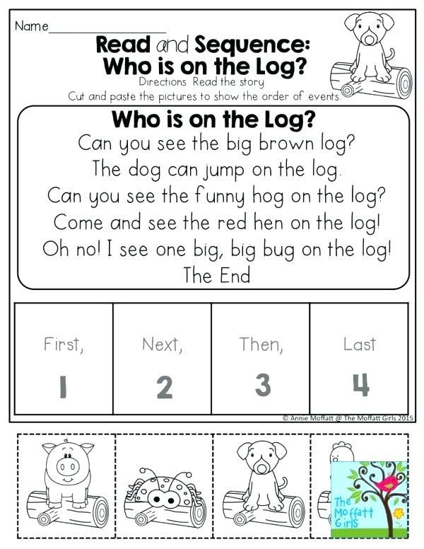 Kindergarten Sequence Worksheets Sequencing Activities for Kindergarten Free Printable Story