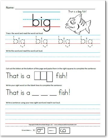 Kindergarten Sight Words Worksheets Pre Kindergarten Pre Primer Sight Word Sentences