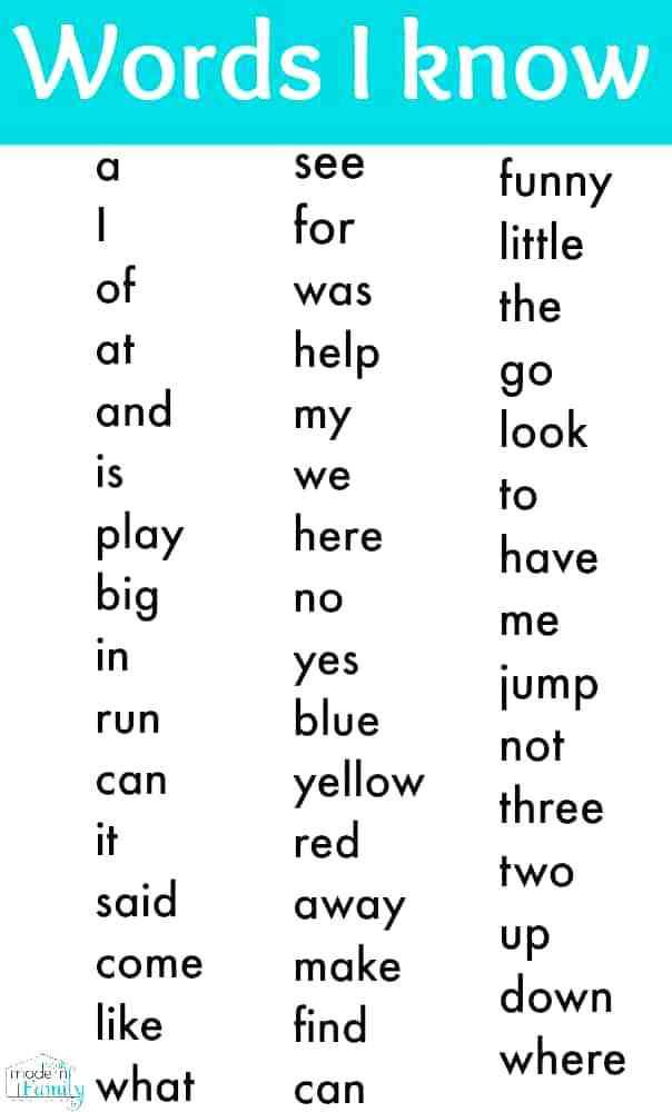 Kindergarten Sight Words Worksheets Sight Words for Preschool Kindergarten Sight Word List Words