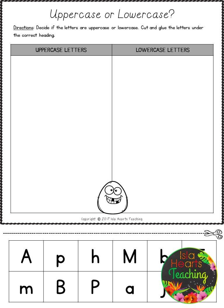 Kindergarten sorting Worksheets Free Letter sorts Uppercase and Lowercase Letters Of the