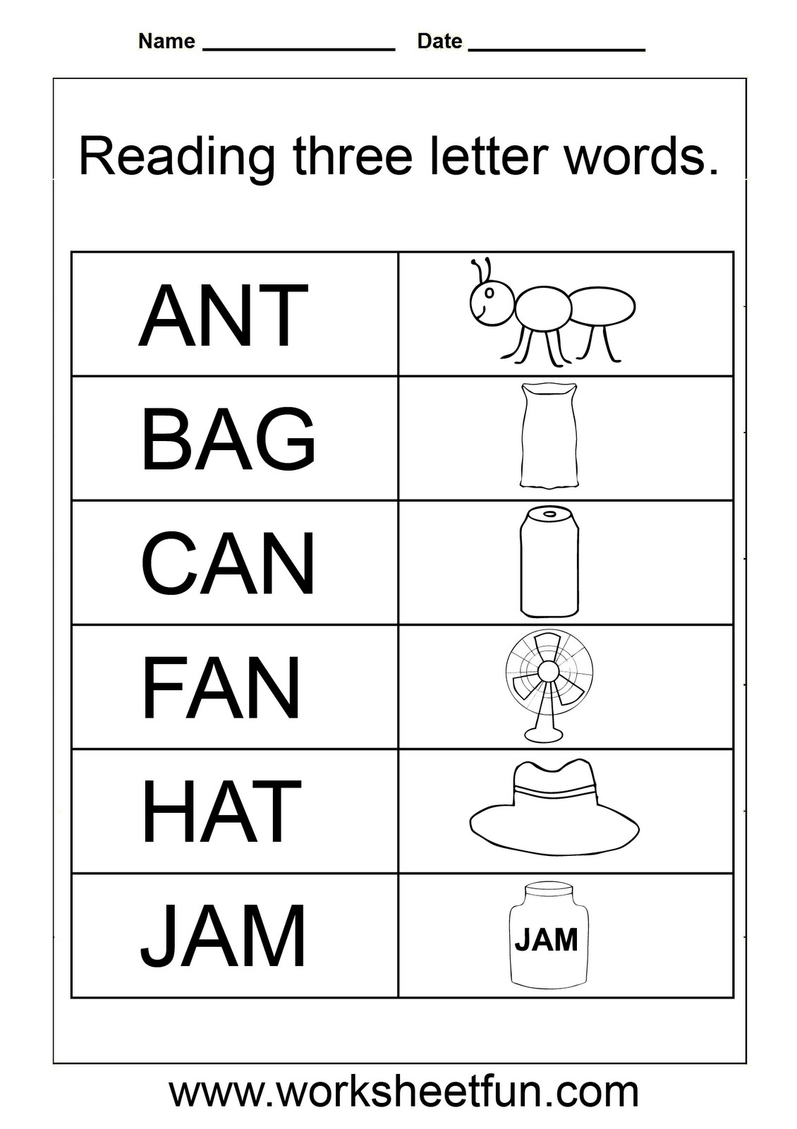 Kindergarten Spelling Worksheets 3 Letter Words Worksheets for Kindergarten