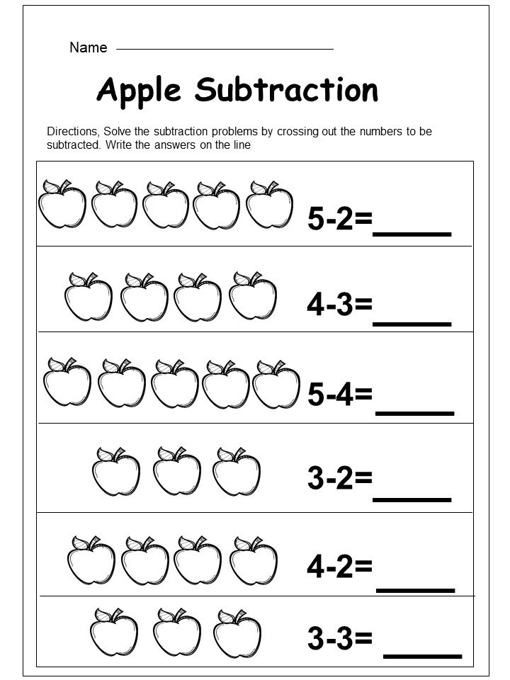 Kindergarten Subtraction Worksheets Free Printable Dry Erase White Boards Erasers and Markers 30 Pack