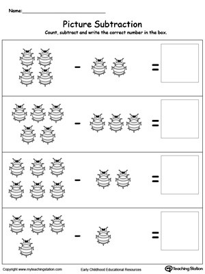 Kindergarten Subtraction Worksheets Free Printable Preschool Subtraction Printable Worksheets