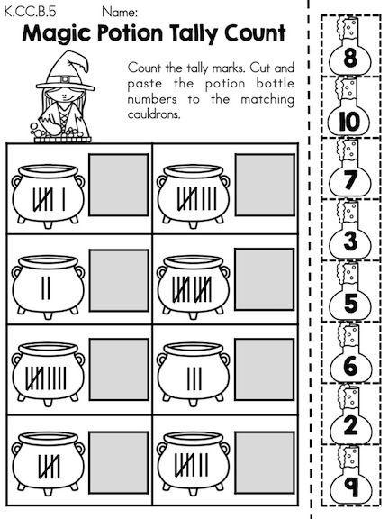 Kindergarten Tally Mark Worksheets Halloween Math Worksheets Kindergarten