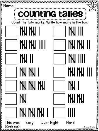 Kindergarten Tally Mark Worksheets Pin On Printable Worksheet for Kindergarten