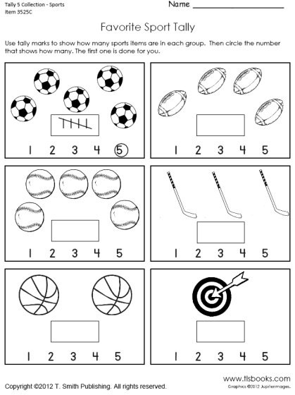 Kindergarten Tally Mark Worksheets Tally Marks to 5 Worksheet Collection
