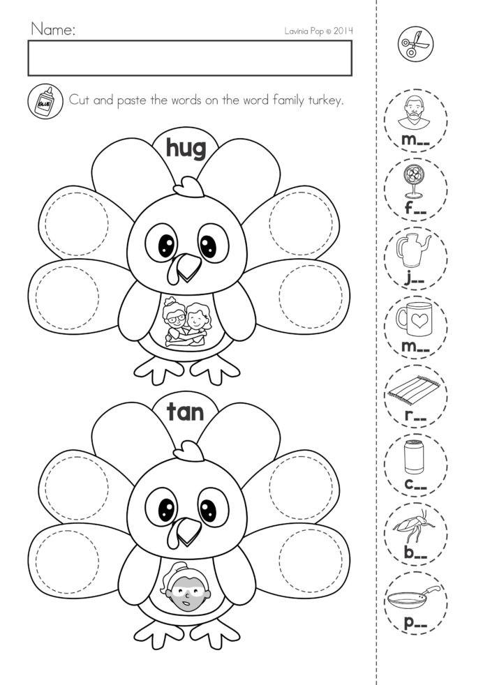 Kindergarten Worksheets Cut and Paste Fraction Worksheet Printable Cut and Paste Worksheets