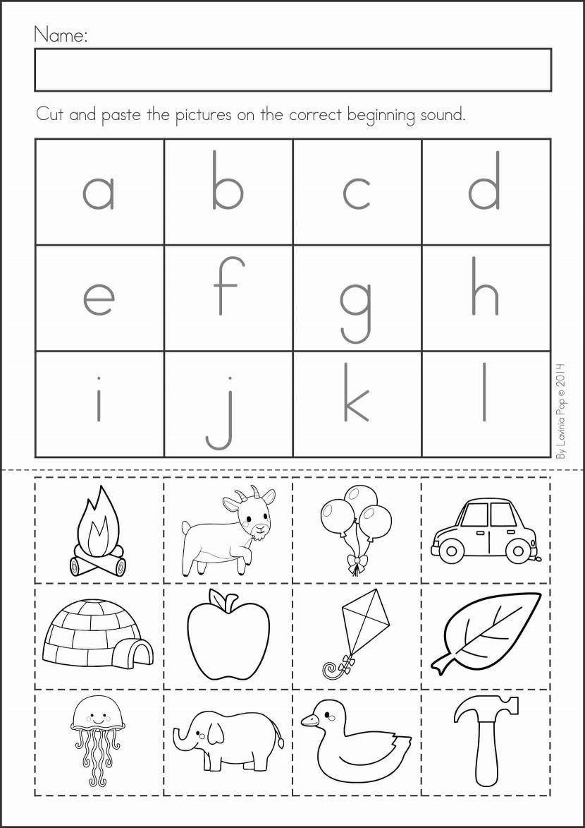 Kindergarten Worksheets Cut and Paste Pin On Alphabet Activities