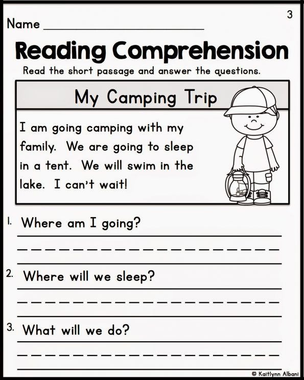 Kindergarten Worksheets Reading Comprehension Reading Prehension Kindergarten Worksheets Free Fiction