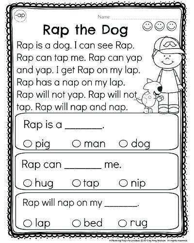 Kindergarten Worksheets Reading Comprehension Reading Prehension Kindergarten Worksheets Free