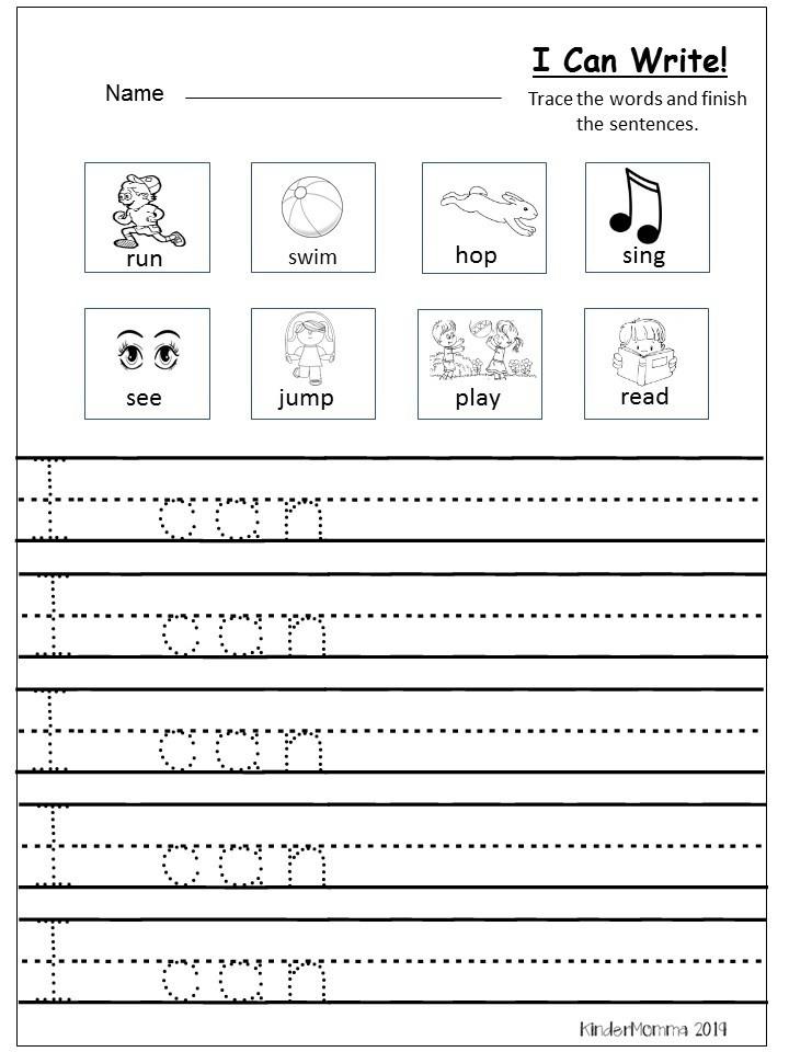 Kindergarten Writing Sentences Worksheets Free Writing Printable Kindergarten and First Grade