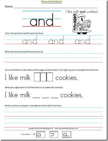 Kindergarten Writing Sentences Worksheets Kindergarten Primer Sight Word Sentences Confessions Of