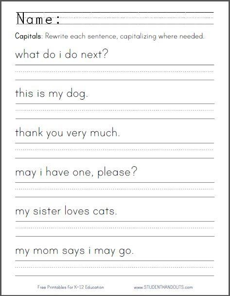 Kindergarten Writing Sentences Worksheets Kindergarten Writing Sentences Worksheets & Build A Sentence