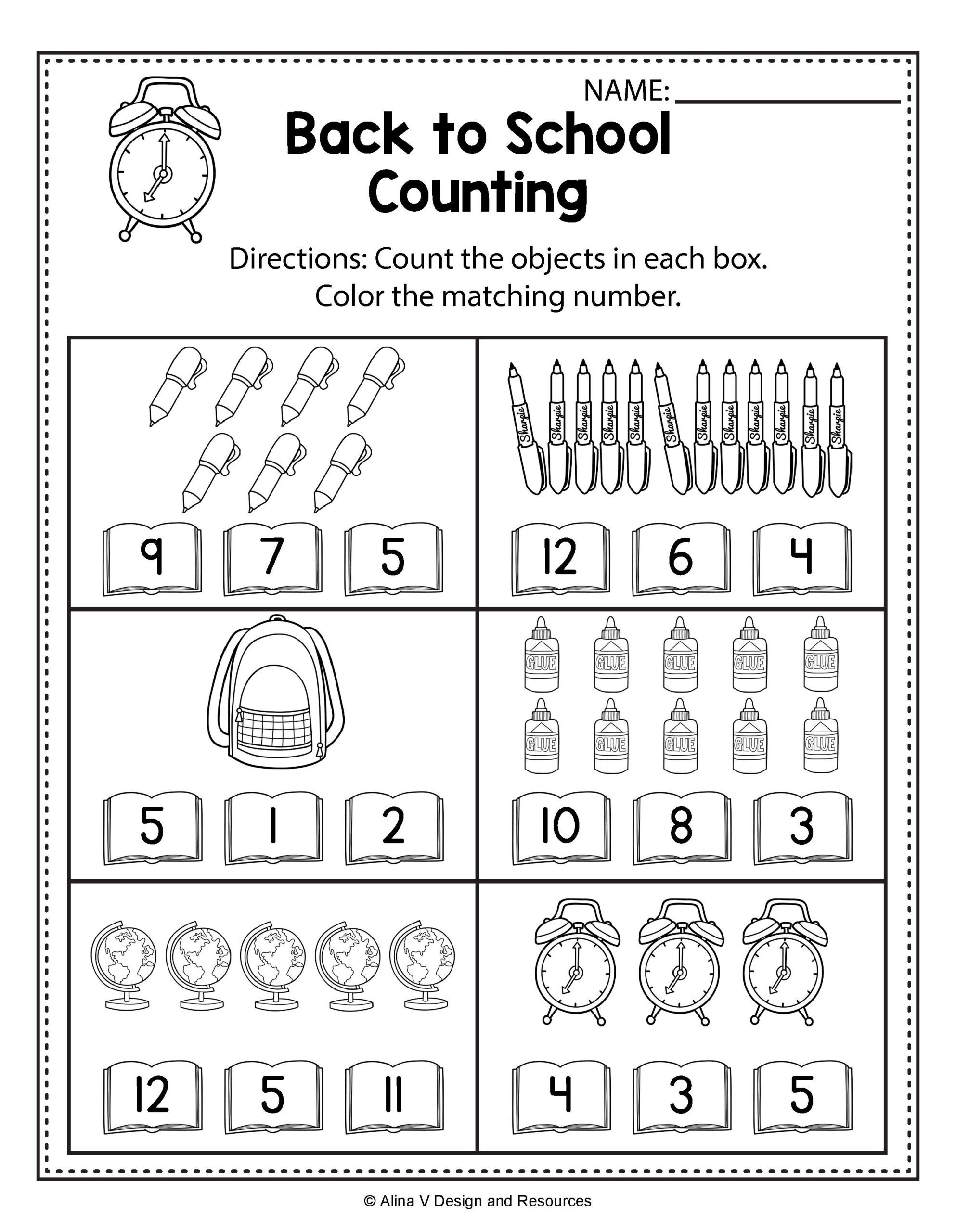 Kumon Maths Worksheets Printable Back to School Kindergarten Worksheets Counting Numbers for