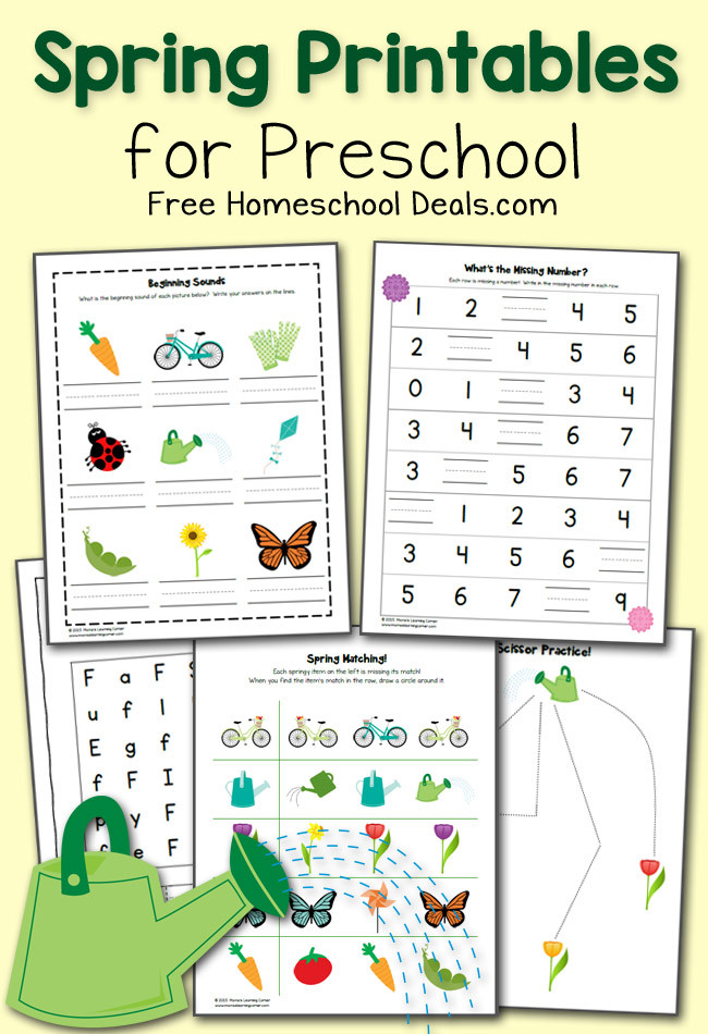 Kumon Printable Worksheets Free Free Spring Printables Pack for Preschool Instant Homeschool