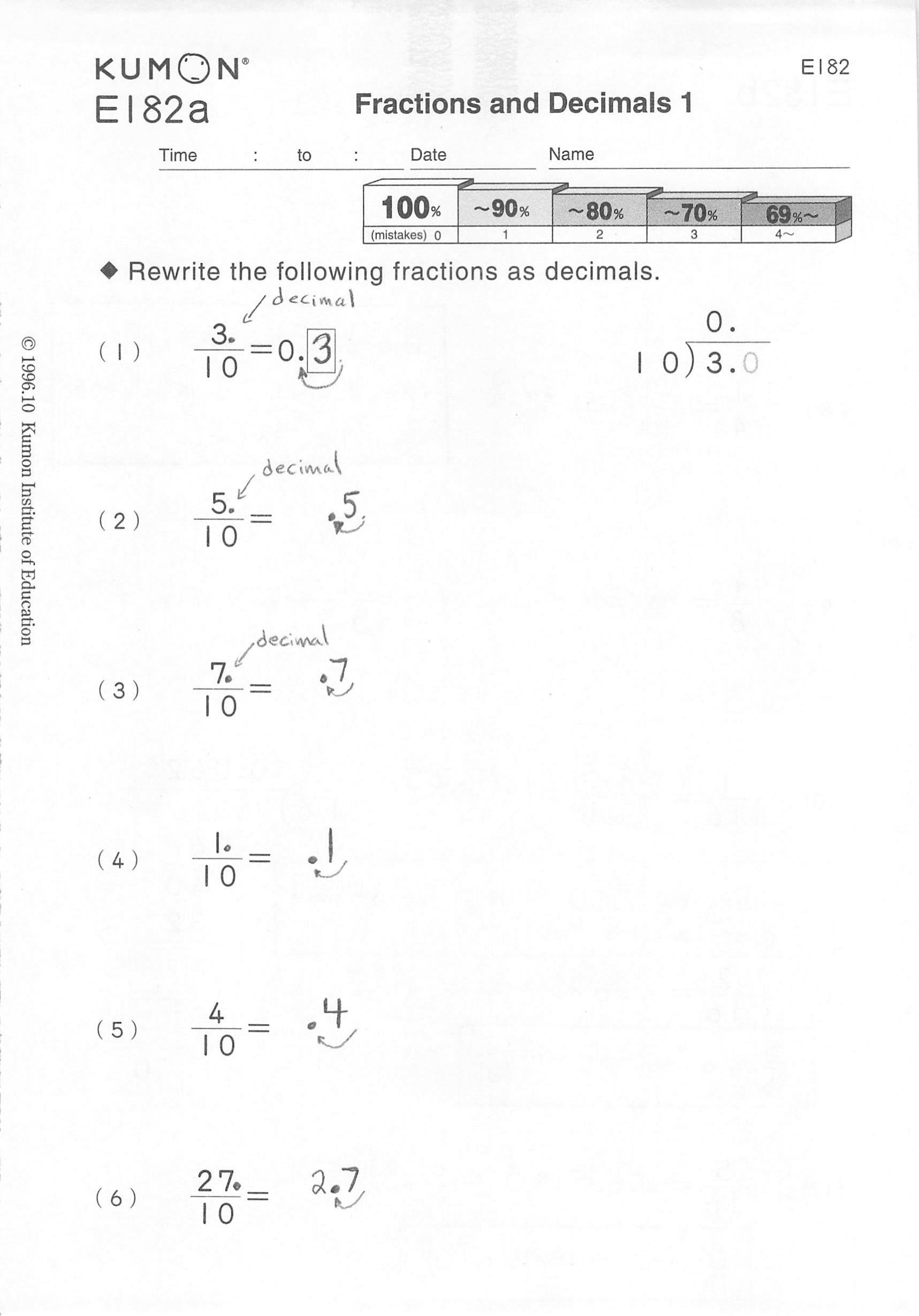 Kumon Printable Worksheets Free Kumon Worksheets Printable 5 Grade
