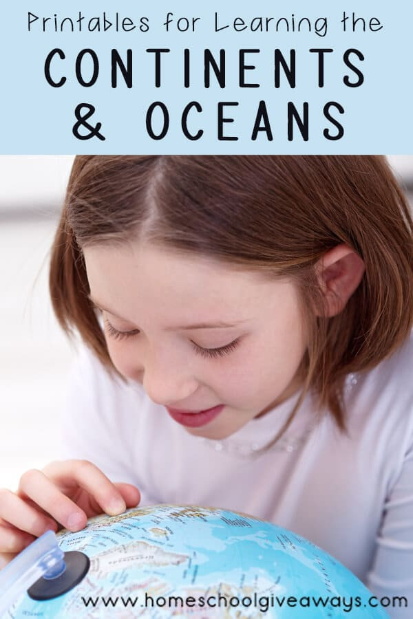 Label Continents and Oceans Printable Free Continents and Oceans Printables Homeschool Giveaways