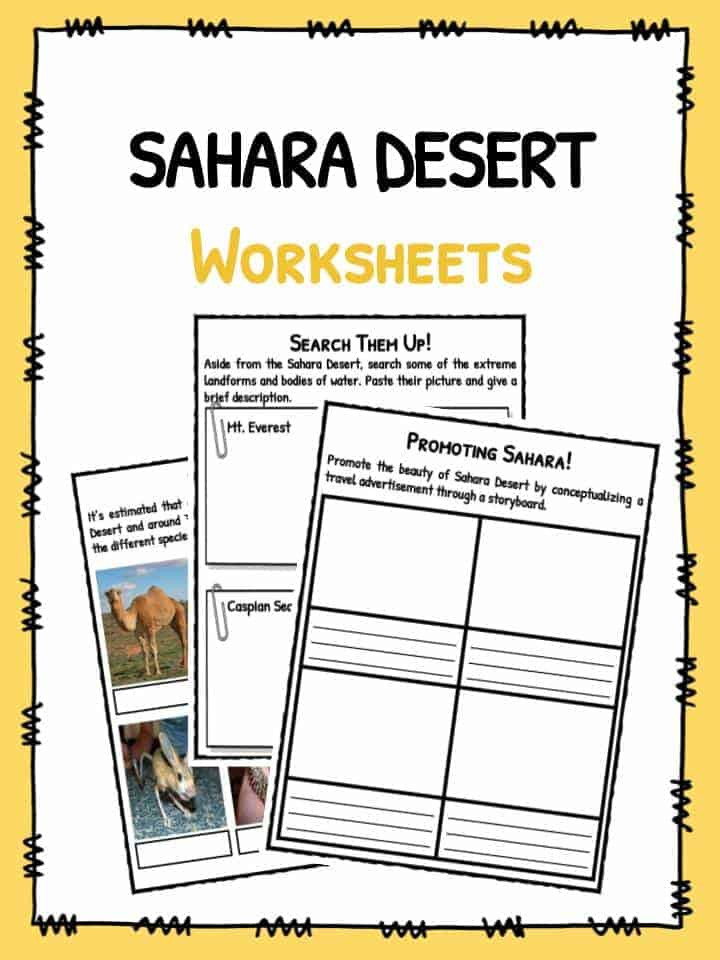 Landforms Worksheet for Kindergarten Sahara Desert Facts Worksheets & Historical Information for