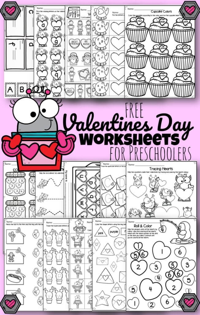 Landforms Worksheet for Kindergarten tons Of Free Valentines Day Worksheets